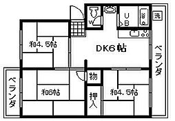 シーサイド貝掛マンションB棟[407号室]の間取り