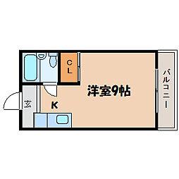 滋賀県大津市梅林2丁目の賃貸マンションの間取り