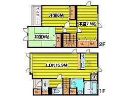[テラスハウス] 北海道札幌市東区北二十二条東20丁目 の賃貸【/】の間取り