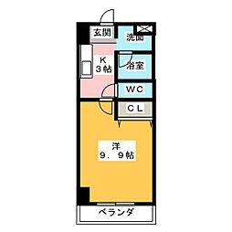 名藤ビル[3階]の間取り