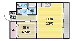 メゾンクロワール[1階]の間取り