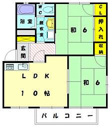 シーパークハイツ2[2階]の間取り