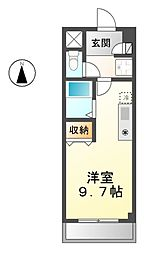 愛知県清須市西枇杷島町日の出の賃貸アパートの間取り