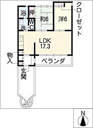 ガーデン[2階]の間取り
