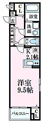 JR山陽本線 広島駅 徒歩14分の賃貸マンション 2階1Kの間取り
