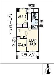 SK'BUILDING−1[6階]の間取り