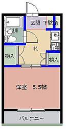 ドミニオン豊津I[3階]の間取り