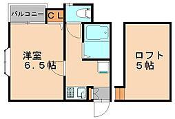 ピュア東比恵参番館[2階]の間取り