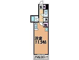 愛媛県松山市北久米町の賃貸マンションの間取り