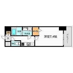 JR大阪環状線 京橋駅 徒歩4分の賃貸マンション 1階1Kの間取り