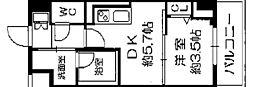 Osaka Metro長堀鶴見緑地線 西長堀駅 徒歩3分の賃貸マンション 5階1DKの間取り