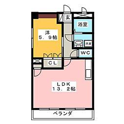 メゾン吉祥[3階]の間取り