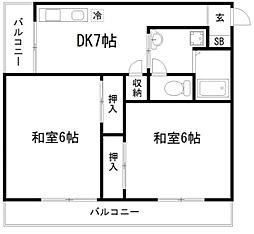 コープKIZAKI[1階]の間取り