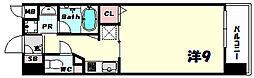 アーバネックス新神戸 5階1Kの間取り