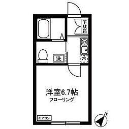 JR横浜線 古淵駅 徒歩9分の賃貸アパート 3階1Kの間取り