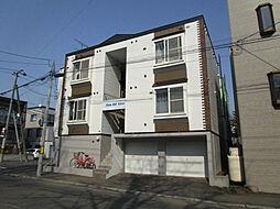 北海道札幌市東区北十条東12丁目の賃貸アパートの外観
