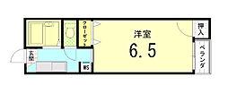 樅ノ木寮[207号室]の間取り