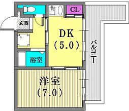 エクセルヴュー神戸[5階]の間取り