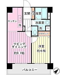 ジュネッタ11[3階]の間取り