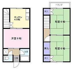 [テラスハウス] 千葉県市川市福栄2丁目 の賃貸【/】の間取り