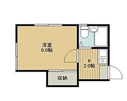 東栄コーポ[201号室]の間取り