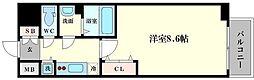 アドバンス大阪ベイパレス[5階]の間取り
