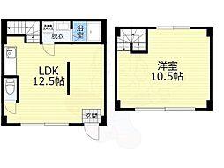 JR大阪環状線 京橋駅 徒歩8分の賃貸マンション 1階1LDKの間取り