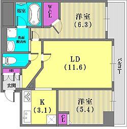 エステムプラザ神戸元町海岸通[9階]の間取り