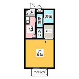 クレールステラ[2階]の間取り