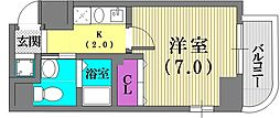 クレアール神戸[801号室]の間取り