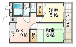 マンションフローラ[3階]の間取り