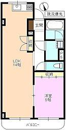 JR北陸新幹線 上田駅 徒歩21分の賃貸マンション 3階1LDKの間取り