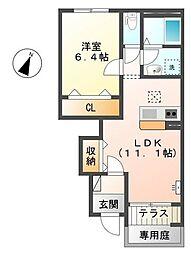 埼玉県上尾市小泉8丁目の賃貸アパートの間取り