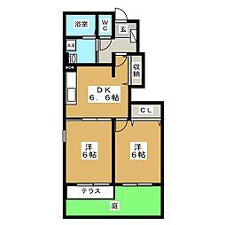 ゆいま〜るハウス B[1階]の間取り