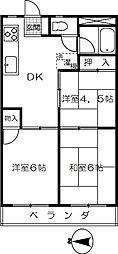 渋谷ハイツ[304号室]の間取り