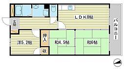 リゾティ英賀保[4階]の間取り