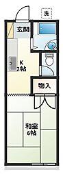 桂ハイツ[201号室]の間取り
