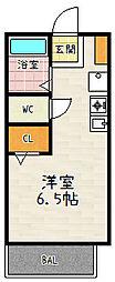 滋賀県大津市下阪本5丁目の賃貸アパートの間取り