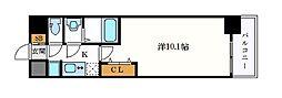 名古屋市営名城線 久屋大通駅 徒歩10分の賃貸マンション 15階1Kの間取り