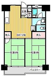 UR南港ひかりの団地[11-224号室]の間取り