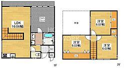 コートハウス伏見桃山[109号室号室]の間取り