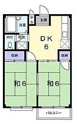 岡山県倉敷市八王寺町丁目なしの賃貸マンションの間取り