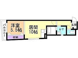 ADVAN wakou 3階1LDKの間取り