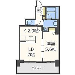 カスタリアタワー長堀橋[8階]の間取り