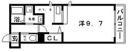 アンフルール[3階]の間取り