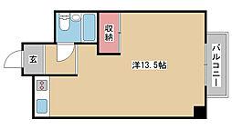 兵庫県神戸市中央区山本通1丁目の賃貸マンションの間取り