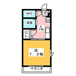 コーポヤマト[2階]の間取り