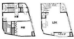 白金台ビル[4-5号室]の間取り