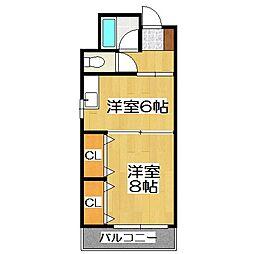 第1正美堂ビル[613号室]の間取り
