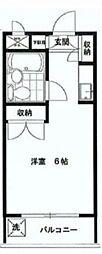 ユースピア大倉山[5階]の間取り